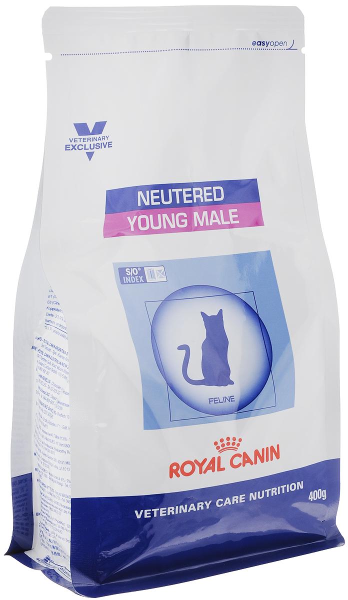 Корм сухой Royal Canin Young Male для кастрированных котов с момента операции до 7 лет, 400 г31425Royal Canin Young Male - полнорационный сухой корм для кастрированных котов с момента операции до 7 лет.Оптимальный вес:- обогащенная белками формула способствует лучшему поддержанию мышечного тонуса по сравнению с обычным режимом питания, повышению вкусовых качеств корма. При одном и том же уровне метаболизма белки дают на 30% меньше чистой энергии, чем углеводы. L-карнитин улучшает транспорт жирных кислот в митохондрии.Умеренное содержание крахмала: - пониженный уровень крахмала и, соответственно, энергии позволяет не набирать лишний вес и уменьшает риск развития диабета. S/O Index :Знак S/O Index на упаковке означает, что диета предназначена для создания в мочевыделительной системе среды, неблагоприятной для образования кристаллов оксалата кальция. Состав: дегидратированные белки животного происхождения (птица), кукуруза, пшеничная клейковина, рис, кукурузная клейковина, гидролизат белков животного происхождения, растительная клетчатка, животные жиры, минеральные вещества, экстракт цикория, рыбий жир, соевое масло, фруктоолигосахариды, оболочка и семена подорожника, экстракт бархатцев прямостоячих (источник лютеина). Добавки (в 1 кг): витамин A - 20500 ME, витамин D3 - 700 ME, железо - 42 мг, йод - 3 мг, марганец - 55 мг, цинк - 180 мг.Содержание питательных веществ: белки - 40%, жиры - 10%, минеральные вещества - 8,9%, клетчатка пищевая - 5,1%, крахмал - 22,9%, медь - 15 мг/кг. Товар сертифицирован.