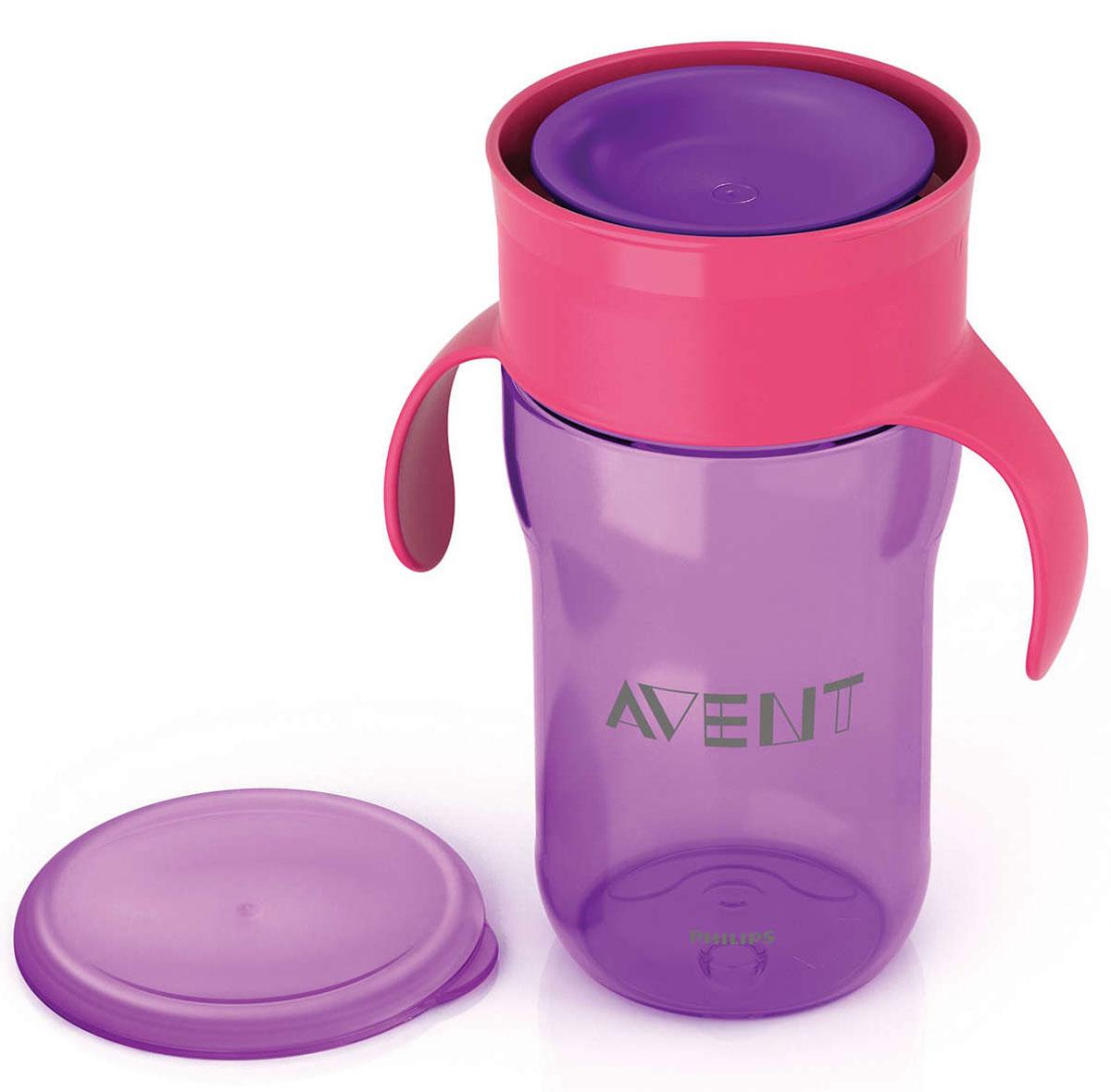 Philips Avent Взрослая чашка, 340 мл, 18м+, 1 шт фиолетовый SCF784/00 philips avent чашка поильник 260 мл 12м красный scf782 00