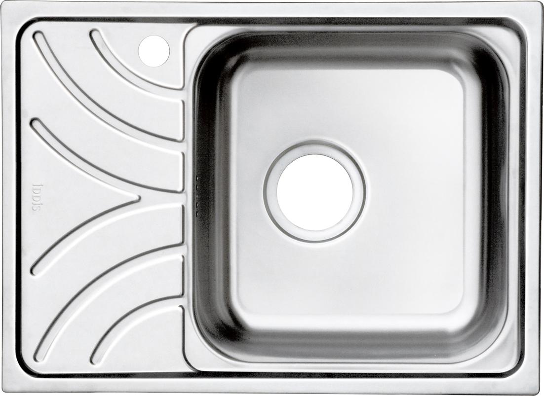 Мойка Iddis Arro, чаша справа, 60,5 х 44 см. ARR60SRi77ARR60SRi77Корпус мойки Iddis Arro выполнен из специальной нержавеющей стали марки 304 с содержанием хрома 18%, и никеля 10%. Это гарантирует устойчивость к воздействию химических веществ, появлению пятен и коррозии. Толщина стали в мойке 0,8 мм. Специальное дополнительное антишумовое покрытие Silenon, нанесенное на обратную сторону чаш, разработано для снижения шума воды в мойке.Конструкция краев мойки, крепления и специальная уплотнительная прокладка обеспечивает максимально плотное прилегание к столешнице и защищает от протекания. Мойка из нержавеющей стали Iddis имеет изготовленное на заводе отверстие под смеситель, что делает ее полностью готовой к установке. Наличие шаблона для выреза отверстия в столешнице для каждой модели облегчает процесс установки моек Iddis.Гарантия на мойки из нержавеющей стали Iddis составляет 15 лет.Глубина чаши: 180 мм, размер чаши: 350 х 370 мм.