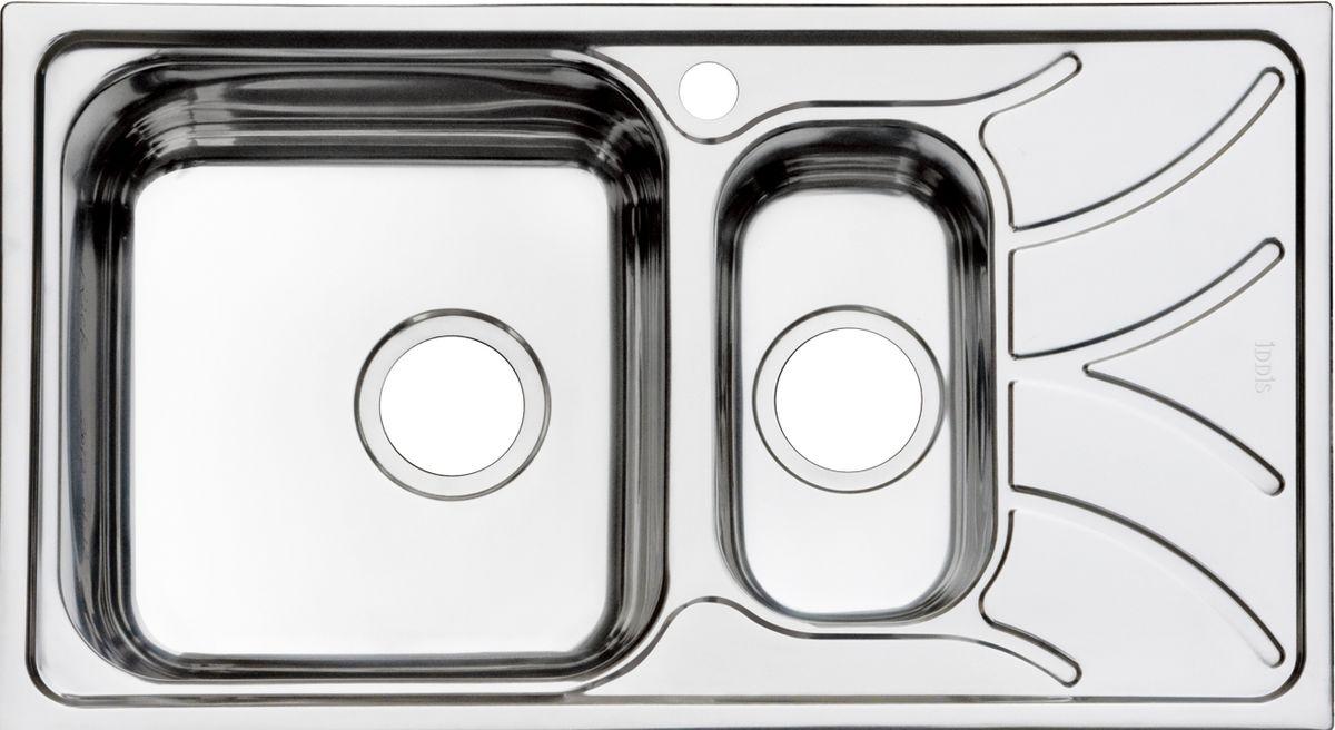 Мойка Iddis Arro, полированная, 1, 1/2, чаша слева, 78 х 44 см. ARR78PXi77ARR78PXi77Корпус мойки Iddis Arro выполнен из специальной нержавеющей стали марки 304 с содержанием хрома 18%, и никеля 10%. Это гарантирует устойчивость к воздействию химических веществ, появлению пятен и коррозии. Толщина стали в мойке 0,8 мм. Специальное дополнительное антишумовое покрытие Silenon, нанесенное на обратную сторону чаш, разработано для снижения шума воды в мойке.Конструкция краев мойки, крепления и специальная уплотнительная прокладка обеспечивает максимально плотное прилегание к столешнице и защищает от протекания. Мойка из нержавеющей стали Iddis имеет изготовленное на заводе отверстие под смеситель, что делает ее полностью готовой к установке. Наличие шаблона для выреза отверстия в столешнице для каждой модели облегчает процесс установки моек Iddis.Гарантия на мойки из нержавеющей стали Iddis составляет 15 лет.Глубина чаш: 180 и 120 мм, размер чаш: 350 х 370 и 162 х 300 мм.