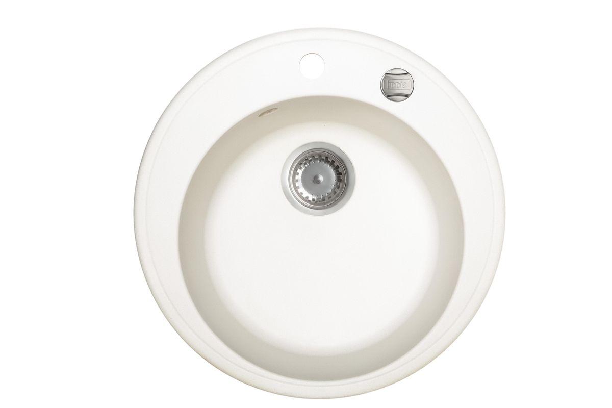 Мойка Iddis Kitchen G, Granucryl, цвет: белый, диаметр 51 см. K05W511i87K05W511i87Мойки для кухни Iddis производятся из особого материала Granucryl: 80% натуральной гранитной крошки производства Германии, 20% акриловой смолы. Благодаря этому, он имеет высокую устойчивость к физическим и механическим воздействиям, стойкость к воздействию средств бытовой химии и перепадам температур во время эксплуатации - свойства, необходимые для комфортного и надежного использования мойки на современной кухне.Термостойкость. Granucryl выдерживает температуру до 280С, что позволяет хозяйкам ставить на мойку даже раскаленную посуду во время приготовления пищи. Стойкость цвета. Однородность материала Granucryl и высокотемпературная пигментация гранитной крошки обеспечивает первозданную яркость цвета мойки в течение всего периода эксплуатации. Пигментация происходит во вращающихсяпечах при температуре до 600 градусов. Каждая частица гранита химически связывается с пигментом, получая свой неповторимый цвет. При этом цвет никогда не выцветает и не может быть удален с поверхности мойки.Практичность.Мелкие царапины, образующиеся при использовании, не видны на мойках IDDIS благодаря однородной структуре и пигментации гранитной крошки материала Granucryl. Гигиеничность.Состав материала Granucryl препятствует размножению бактерий на поверхности моек, что гарантирует их безопасность в условиях повышенной влажности кухни. Гигиеничность материала Granucryl подтверждена немецким институтом гигиены.Мойки Granucryl имеют полный комплект для установки: шаблон для выреза отверстия в столешнице, крепления, автоматический выпуск с переливом и плоский сифон с возможностью подключения посудомоечной или стиральной машины. Наличие готовых отверстий под смеситель и кнопку донного клапана позволяет быстро и легко установить эти изделия на мойку.Мойки Granucryl, благодаря составу материала, а также толщине 10 мм, поглощают шум воды. Гарантия на мойки Granucryl торговой марки Iddis составляет 10 лет.Мойки Gran