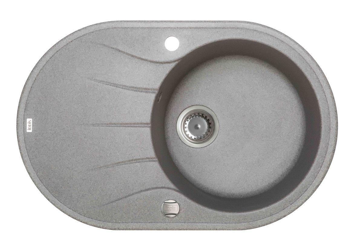 Мойка Iddis Kitchen G, Granucryl, цвет: серый, 77 х 50 см. K12G771i87SUN77PLi77Мойки для кухни Iddis производятся из особого материала Granucryl: 80% натуральной гранитной крошки производства Германии, 20% акриловой смолы. Благодаря этому, он имеет высокую устойчивость к физическим и механическим воздействиям, стойкость к воздействию средств бытовой химии и перепадам температур во время эксплуатации - свойства, необходимые для комфортного и надежного использования мойки на современной кухне. Термостойкость.Granucryl выдерживает температуру до 280С, что позволяет хозяйкам ставить на мойку даже раскаленную посуду во время приготовления пищи.Стойкость цвета.Однородность материала Granucryl и высокотемпературная пигментация гранитной крошки обеспечивает первозданную яркость цвета мойки в течение всего периода эксплуатации. Пигментация происходит во вращающихсяпечах при температуре до 600 градусов. Каждая частица гранита химически связывается с пигментом, получая свой неповторимый цвет. При этом цвет никогда не выцветает и не может быть удален с поверхности мойки. Практичность. Мелкие царапины, образующиеся при использовании, не видны на мойках IDDIS благодаря однородной структуре и пигментации гранитной крошки материала Granucryl.Гигиеничность. Состав материала Granucryl препятствует размножению бактерий на поверхности моек, что гарантирует их безопасность в условиях повышенной влажности кухни. Гигиеничность материала Granucryl подтверждена немецким институтом гигиены. Мойки Granucryl имеют полный комплект для установки: шаблон для выреза отверстия в столешнице, крепления, автоматический выпуск с переливом и плоский сифон с возможностью подключения посудомоечной или стиральной машины.Наличие готовых отверстий под смеситель и кнопку донного клапана позволяет быстро и легко установить эти изделия на мойку. Мойки Granucryl, благодаря составу материала, а также толщине 10 мм, поглощают шум воды.Гарантия на мойки Granucryl торговой марки Iddis составляет 10 лет. Мойки Granuc