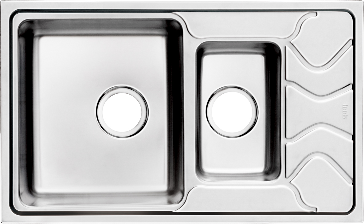 Мойка Iddis Reeva, 1, 1/2, основная чаша слева, 78 х 48 см. REE78SXi77REE78SXi77Корпус мойки Iddis Reeva выполнен из специальной нержавеющей стали марки 304 с содержанием хрома 18%, и никеля 10%. Это гарантирует устойчивость к воздействию химических веществ, появлению пятен и коррозии. Толщина стали в мойке 0,9 мм. Специальное дополнительное антишумовое покрытие Silenon, нанесенное на обратную сторону чаш, разработано для снижения шума воды в мойке.Конструкция краев мойки, крепления и специальная уплотнительная прокладка обеспечивает максимально плотное прилегание к столешнице и защищает от протекания. Мойка из нержавеющей стали Iddis имеет изготовленное на заводе отверстие под смеситель, что делает ее полностью готовой к установке. Наличие шаблона для выреза отверстия в столешнице для каждой модели облегчает процесс установки моек Iddis.Гарантия на мойки из нержавеющей стали Iddis составляет 15 лет.Глубина чаш: 210 и 130 мм, размер чаши: 350 х 400 и 180 х 300 мм.