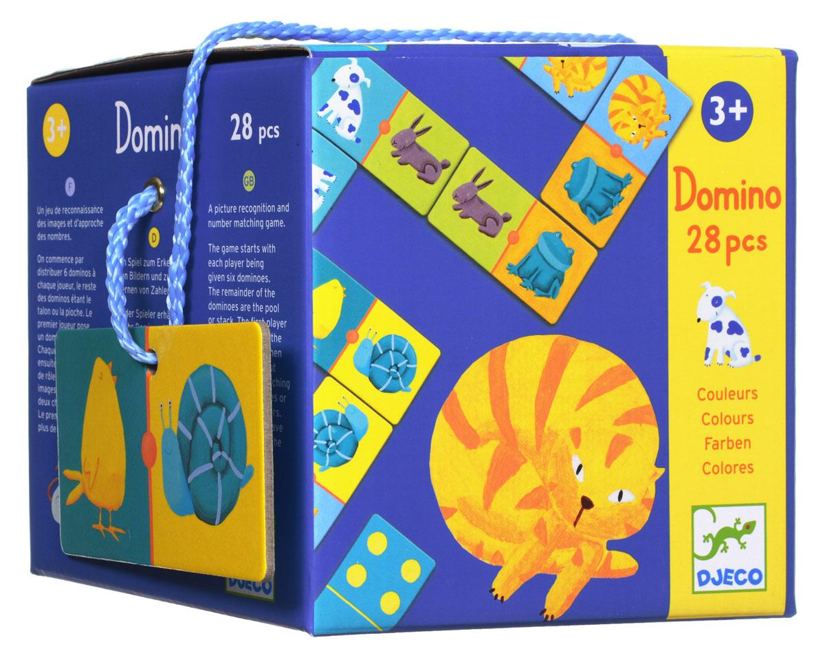 Djeco Домино Цветные животные настольные игры djeco игра лото дом