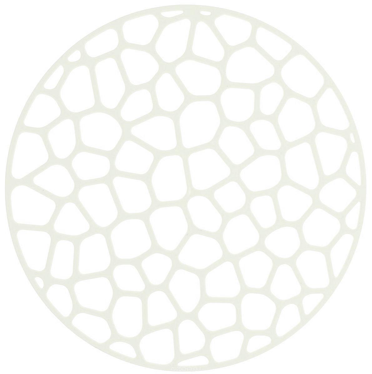 Коврик для раковины Idea, цвет: белый, диаметр 30 смМ 1152_белый, кругКоврик для раковины Idea изготовлен из полипропилена (пластик). Изделие одновременно выполняет несколько функций: украшает, предотвращает появление на раковине царапин и сколов, защищает посуду от повреждений при падении в раковину, удерживает мусор, попадание которого в слив приводит к засорам. Изделие также обладает противоскользящим эффектом и может использоваться в качестве подставки для сушки чистой посуды. Легко очищается от грязи и жира.