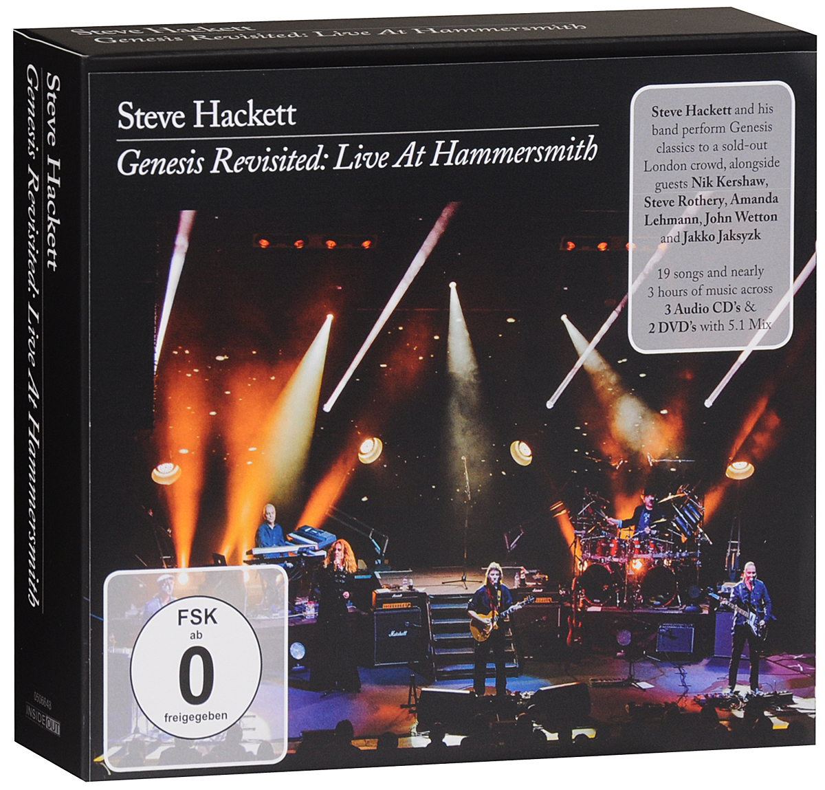 Стив Хэкетт Steve Hackett. Genesis Revisited. Live At Hammersmith (3 CD + 2 DVD) джек восьмеркин американец 2 dvd