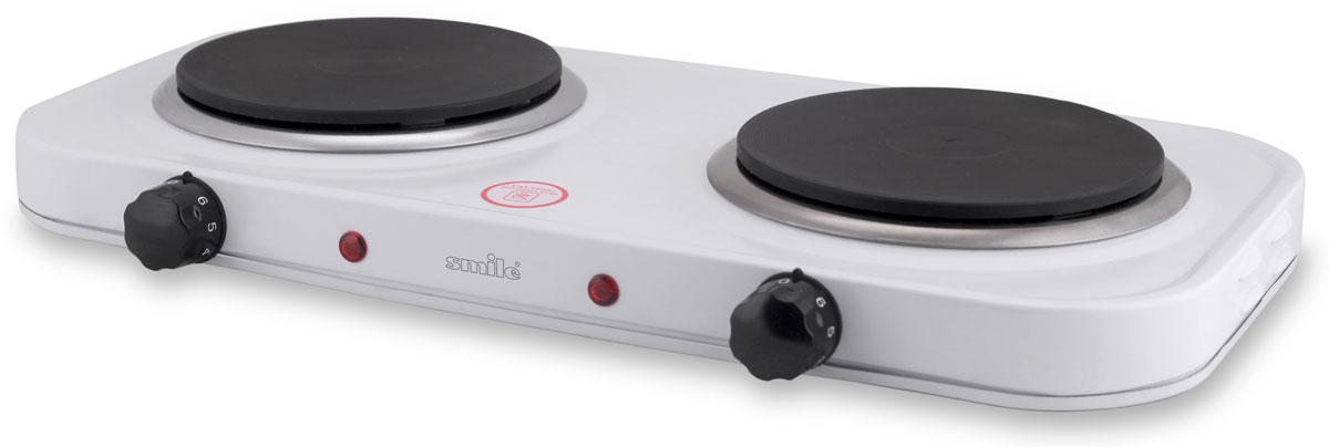 Smile DEP 9014 плитка электрическаяDEP 9014Smile DEP 9014 - компактная электроплитка, заменяющая традиционные громоздкие, газовые плиты. Такая плитка обеспечивает сравнительно быстрый нагрев посуды. Корпус модели изготовлен из металла. Она оснащена плавно регулируемым термостатом, а также световым индикатором включения. Имеет 2 нагревательных диска мощностью по 1000 Вт.Корпус из эмалированной стали2 плавно регулируемых термостата2 контрольные лампочкиБольшая устойчивостьДиаметр нагревательных дисков: 155 мм