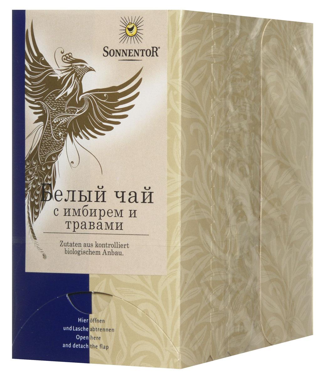 Sonnentor Белый чай с имбирем и травами, 18 пакетиков ambientair белый чай 100ml mk100thlc
