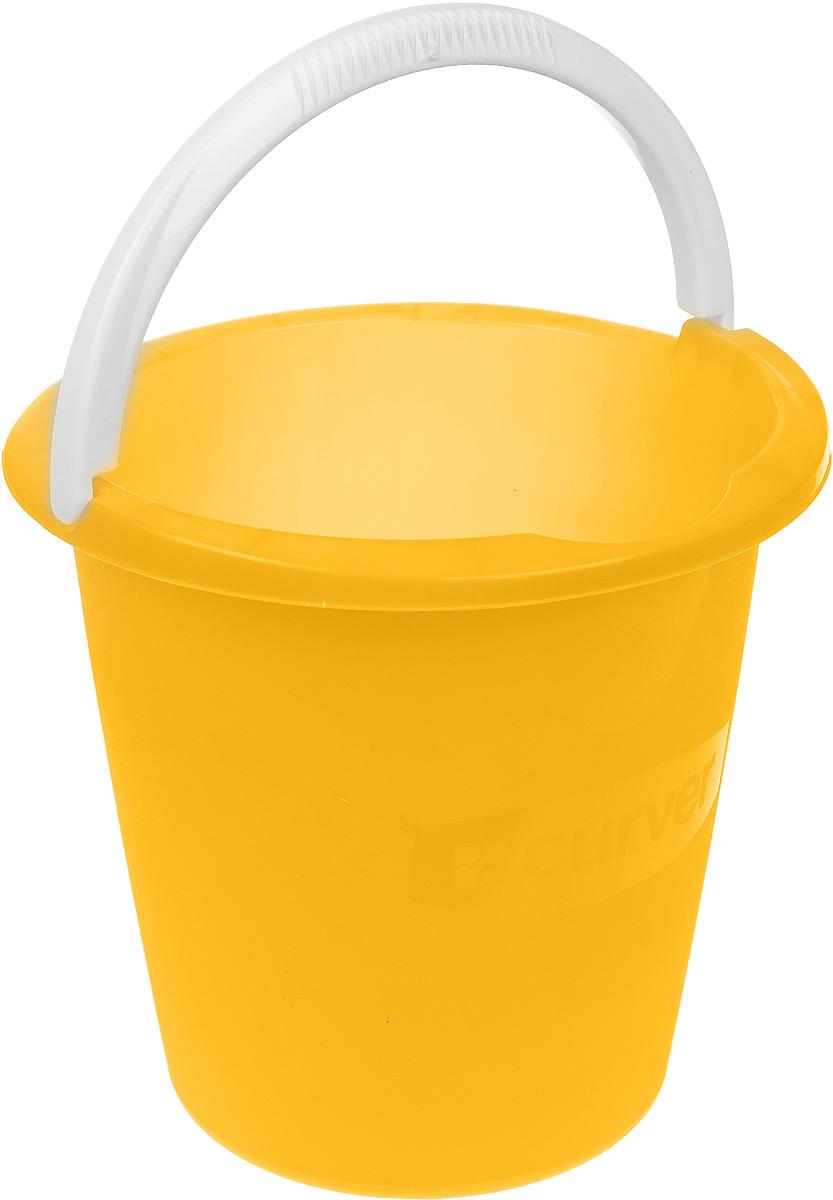 Ведро Curver, цвет: желтый, 10 л1301_желтыйВедро Curver выполнено из прочного пластика. Изделие снабжено небольшим носиком и удобной рельефной ручкой. На внутреннюю поверхность нанесены отметки литража. Такое ведро пригодится в любом хозяйстве, оно отлично подойдет для мытья полов или хранения мусора.Диаметр ведра (по верхнему краю): 29 см.Высота: 28 см.