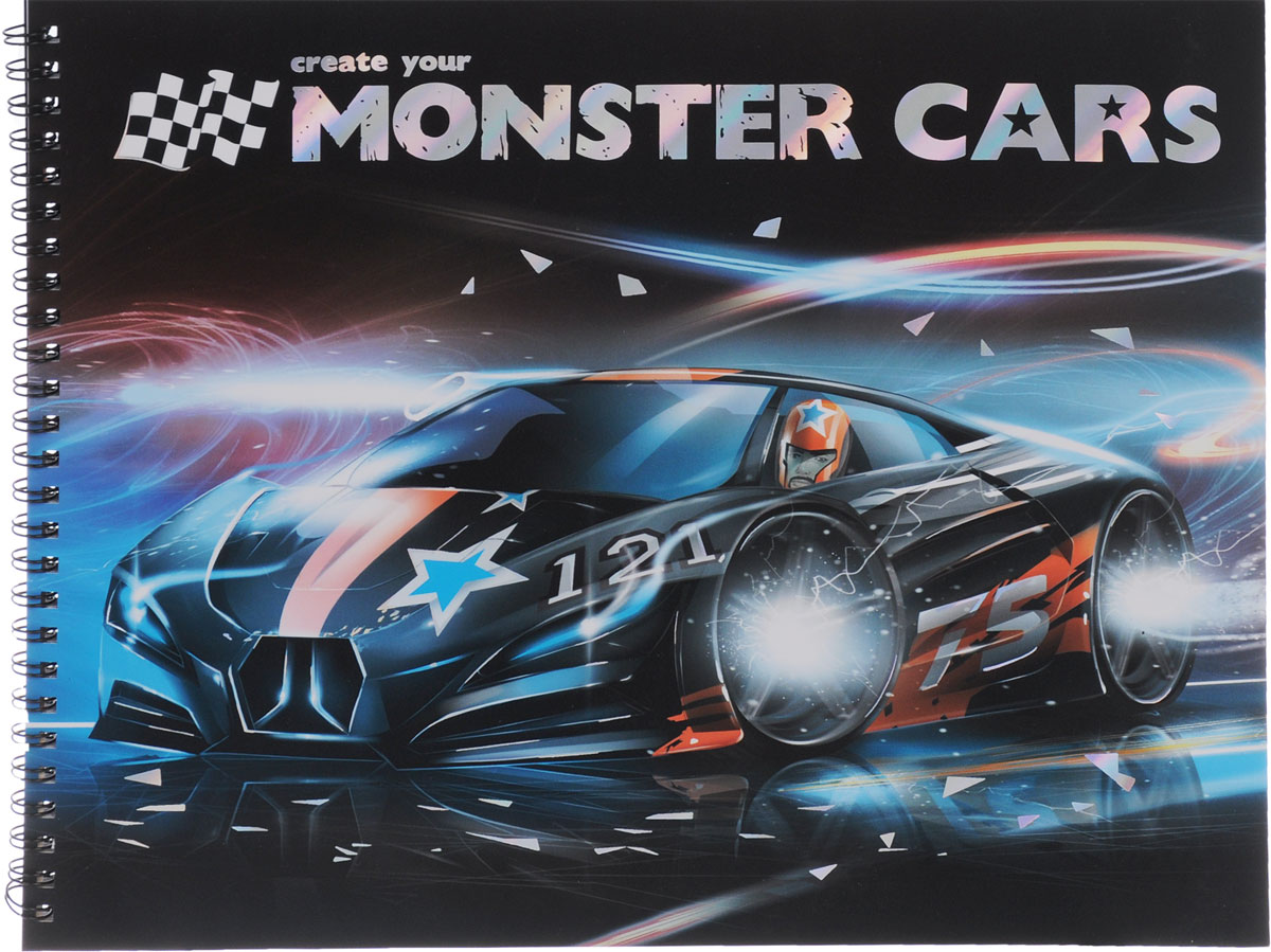 , Create your Monster Cars / Создай свои крутые тачки. Книга-раскраска (+наклейки) э хотвилс крутые виражи альбом раскраска