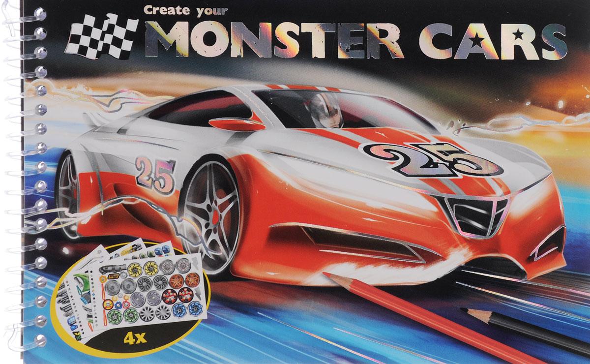 , Create Your Monster Cars. Раскраска (+ наклейки) детские наклейки монстер хай monster high альбом наклеек