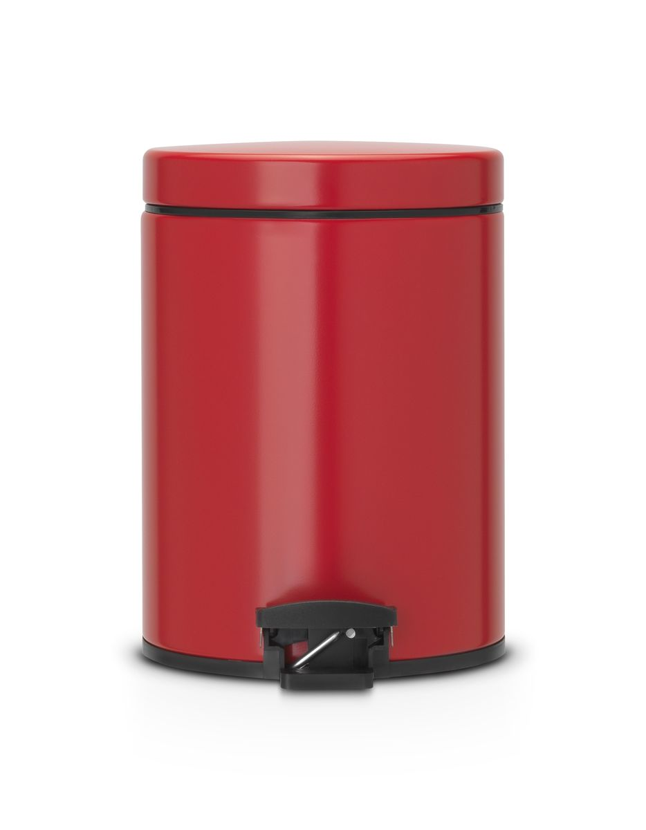 Бак мусорный Brabantia, с педалью, цвет: красный, 5 л. 483707483707Идеальное решение для ванной комнаты и туалета! Предотвращает распространение запахов - прочная не пропускающая запахи металлическая крышка. Плавное и бесшумное открывание/закрывание крышки. Надежный педальный механизм, высококачественные коррозионно-стойкие материалы. Удобная очистка – прочное съемное внутреннее ведро из пластика. Бак удобно перемещать – прочная ручка для переноски. Отличная устойчивость даже на мокром и скользком полу – противоскользящее основание. Предохранение пола от повреждений – пластиковый защитный обод. Всегда опрятный вид – идеально подходящие по размеру мешки для мусора со стягивающей лентой (размер B). 10-летняя гарантия Brabantia.