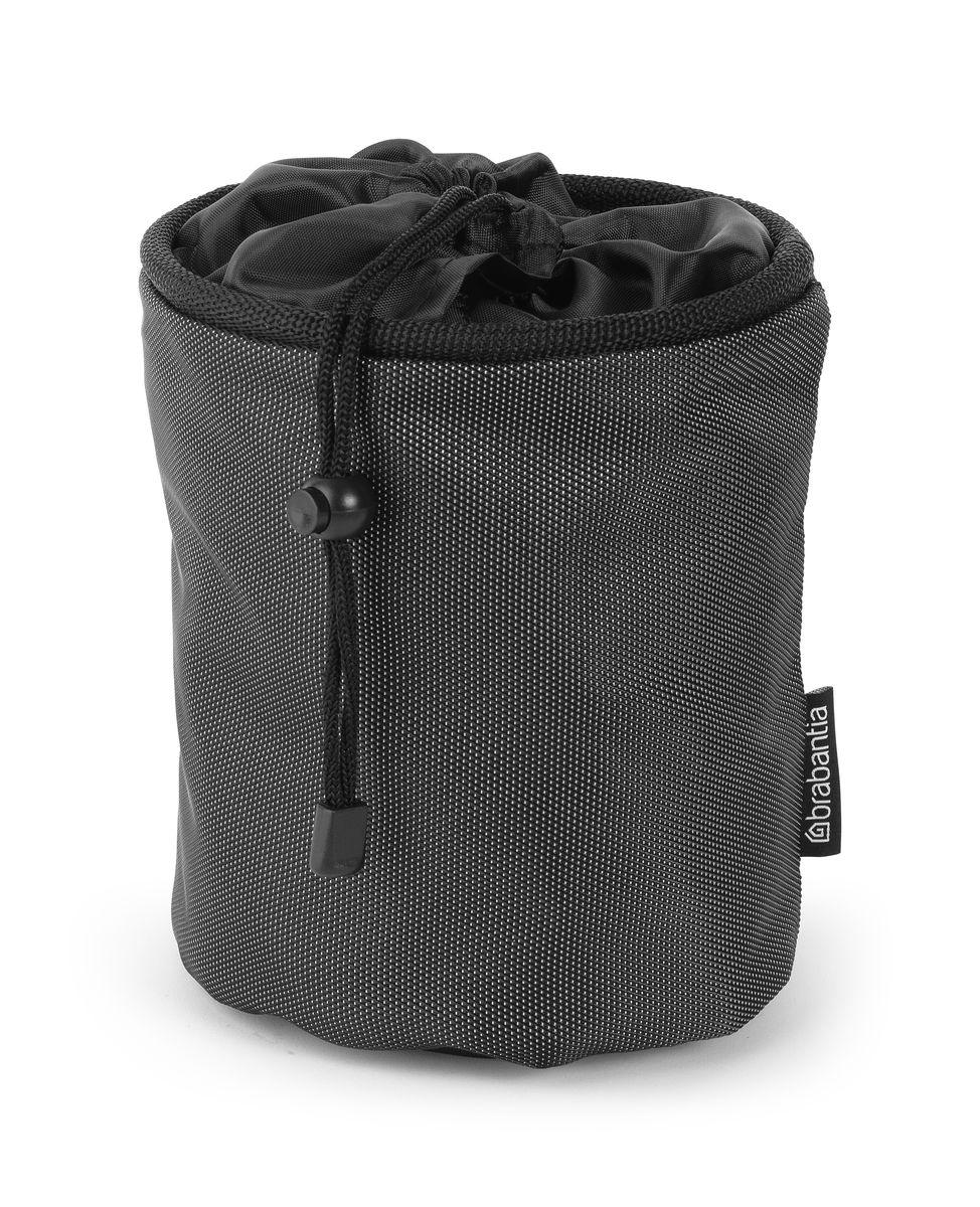Мешок для прищепок Brabantia, цвет: черный. 105784105784Большая вместимость – до 150 прищепок.Прищепки всегда под рукой – удобное крепление к сушилке или на пояс.Удобен в хранении – затягивается шнуром.