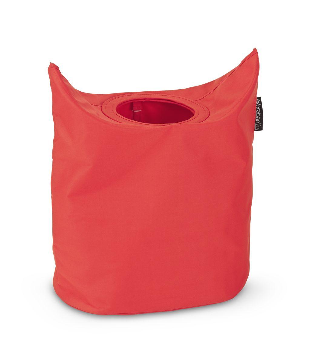 Сумка для белья Brabantia, овальная, цвет: красный, 50 л. 102523102523Большая вместимость – 50 литров. Удобно закладывать и доставать белье – широкое открытие. Отверстие для быстрой загрузки белья – просто сложите магнитные ручки. Практичная – большие удобные ручки для переноски. Экономия места – складывается для хранения.