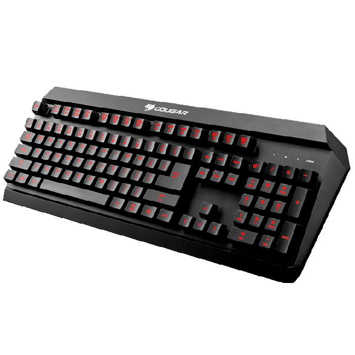 Cougar 450K, Black игровая клавиатураCU450KCougar 450K – влагостойкая игровая клавиатура, которой не страшен пролитый в разгар битвы чай. Она разработана специально для геймеров, которые любят играть и кушать одновременно.Гибридный механизм разработан специально для игр, поэтому позволяет получить обратную связь уровня, недоступного даже некоторым механическим клавиатурам. Четкие нажатия с сочным усилием без малейшего горизонтального отклонения, позволяют отдать управление рефлексам и полностью сосредоточиться на происходящем в игре. Технологии Anti-ghosting используется на 26 клавишах, которые наиболее часто используются в сочетаниях с другими.Клавиатура позволяет с помощью клавиши FN получить доступ к управлению воспроизведением медиа файлов, функциям записи макросов на лету, блокировки клавиши Windows и настройке частоты опроса. Полная подсветка клавишМожно настроить один из трех цветов подстветки клавиатуры: красный, желтый или зеленый. Возможность программирования пользовательских настроек на любую клавишу в ПО Cougar UIX, это может быть изменение значения клавиши или назначение макроса на любую клавишу. С высококачественными прорезиненными ножками игровая клавиатура Cougar 450K остается непоколебимой в разгар самых напряженных схваток.