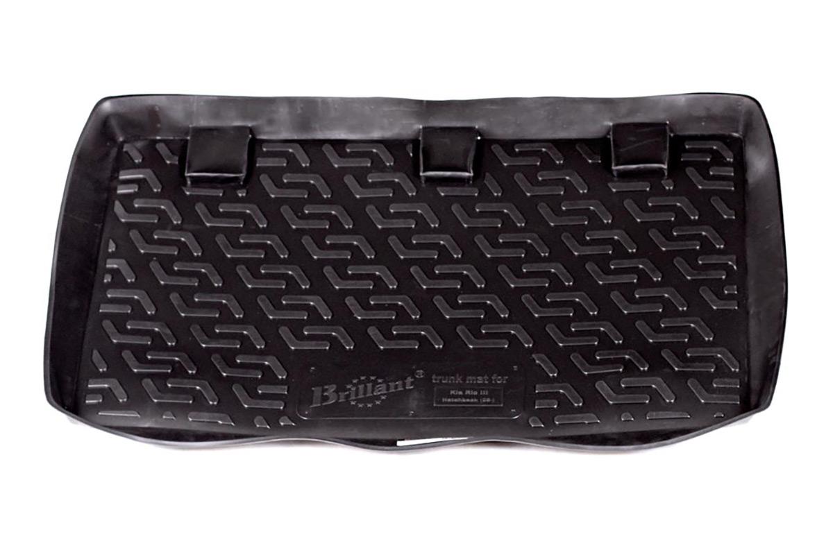 Коврик в багажник Kia Rio III hb (05-) полиуретан0103010401Коврики производятся индивидуально для каждой модели автомобиля из современного и экологически чистого материала, точно повторяют геометрию пола автомобиля, имеют высокий борт от 4 см до 6 см., обладают повышенной износоустойчивостью, антискользящими свойствами, лишены резкого запаха, сохраняют свои потребительские свойства в широком диапазоне температур (-50 +80 С).