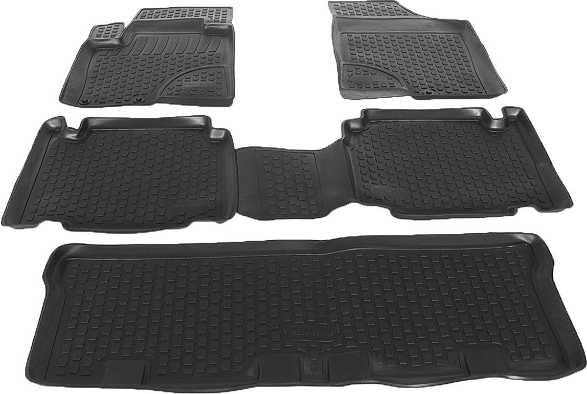 Коврик в багажник L.Locker, для Hyundai ix55 (08-), 4 шт0204130101Коврики L.Locker производятся индивидуально для каждой модели автомобиля из современного и экологически чистого материала. Изделия точно повторяют геометрию пола автомобиля, имеют высокий борт, обладают повышенной износоустойчивостью, антискользящими свойствами, лишены резкого запаха и сохраняют свои потребительские свойства в широком диапазоне температур (от -50°С до +80°С). Рисунок ковриков специально спроектирован для уменьшения скольжения ног водителя и имеет достаточную глубину, препятствующую свободному перемещению жидкости и грязи на поверхности. Одновременно с этим рисунок не создает дискомфорта при вождении автомобиля. Водительский ковер с предустановленными креплениями фиксируется на штатные места в полу салона автомобиля. Новая технология системы креплений герметична, не дает влаге и грязи проникать внутрь через крепеж на обшивку пола.