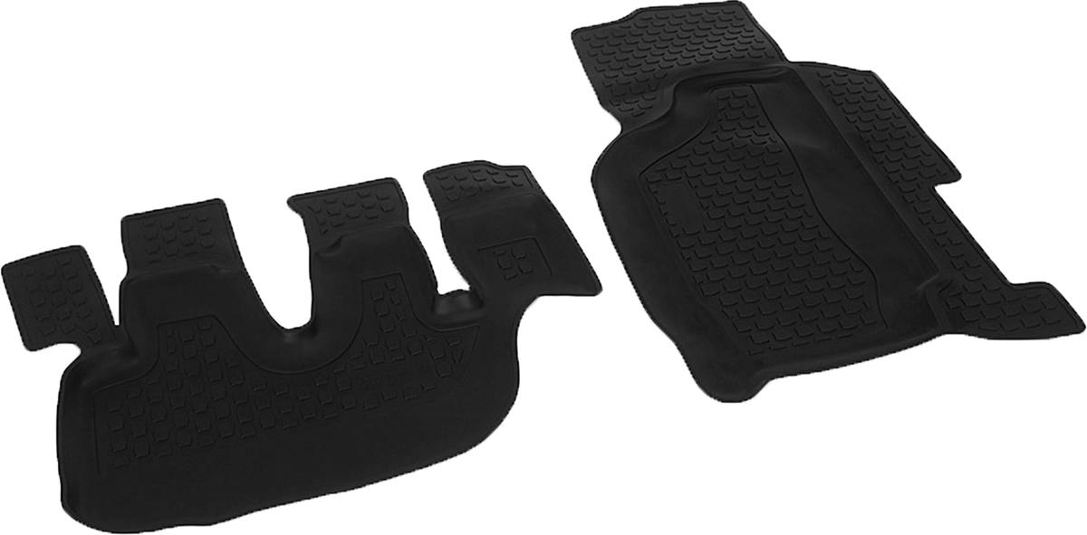 Коврики в салон автомобиля L.Locker, для Hyundai HD, цвет: черный, 2 шт0204160101Коврики L.Locker производятся индивидуально для каждой модели автомобиля из современного и экологически чистого материала, точно повторяют геометрию пола автомобиля, имеют высокий борт от 3 см до 4 см. Обладают повышенной износоустойчивостью, антискользящими свойствами, лишены резкого запаха, сохраняют свои потребительские свойства в широком диапазоне температур (от -50°С до +80°С). Коврики предназначены специально для автомобиля Hyundai HD.
