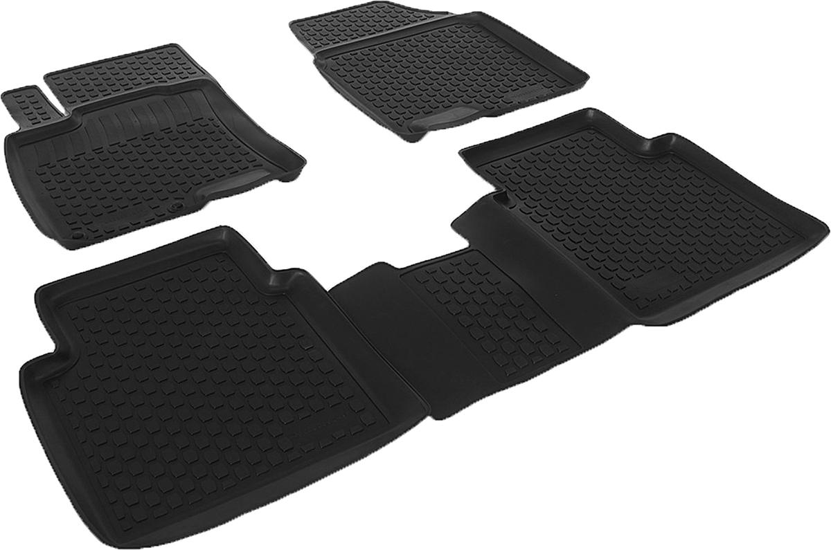 Коврики в салон автомобиля L.Locker, для Nissan Qashqai+2 (08-), 4 шт0205050201Коврики L.Locker производятся индивидуально для каждой модели автомобиля из современного и экологически чистого материала. Изделия точно повторяют геометрию пола автомобиля, имеют высокий борт, обладают повышенной износоустойчивостью, антискользящими свойствами, лишены резкого запаха и сохраняют свои потребительские свойства в широком диапазоне температур (от -50°С до +80°С). Рисунок ковриков специально спроектирован для уменьшения скольжения ног водителя и имеет достаточную глубину, препятствующую свободному перемещению жидкости и грязи на поверхности. Одновременно с этим рисунок не создает дискомфорта при вождении автомобиля. Водительский ковер с предустановленными креплениями фиксируется на штатные места в полу салона автомобиля. Новая технология системы креплений герметична, не дает влаге и грязи проникать внутрь через крепеж на обшивку пола.