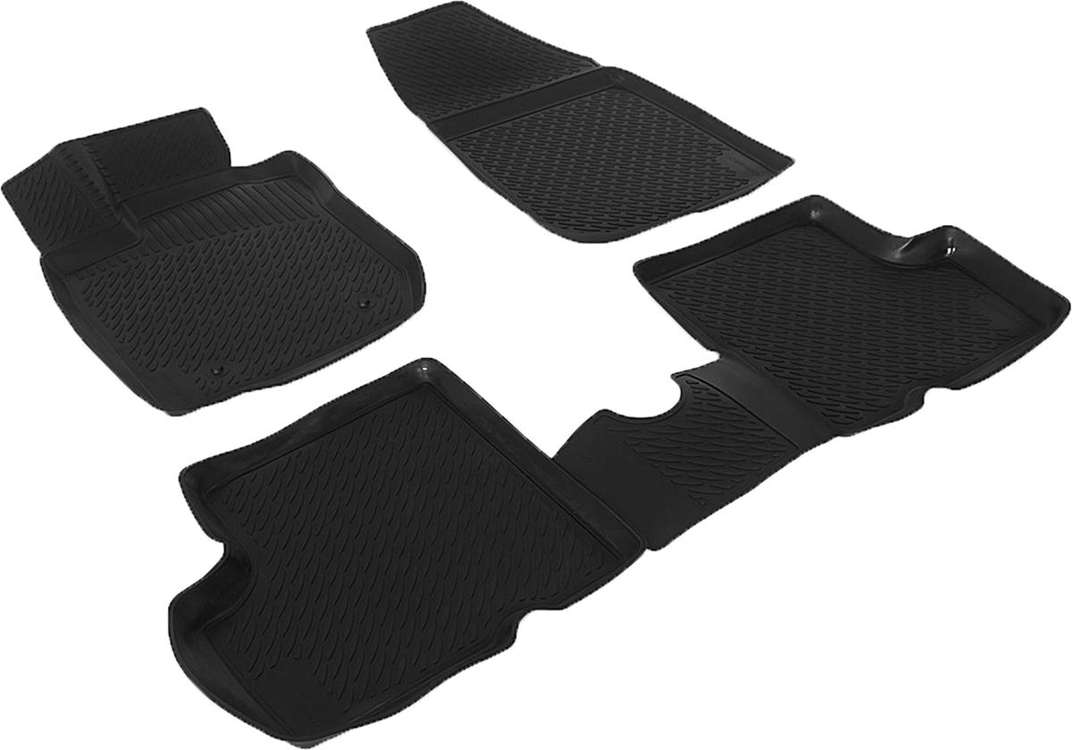 Коврики в салон автомобиля L.Locker, для Nissan Terrano III 2 WD (14-), 4 шт0205130201Коврики L.Locker производятся индивидуально для каждой модели автомобиля из современного и экологически чистого материала. Изделия точно повторяют геометрию пола автомобиля, имеют высокий борт, обладают повышенной износоустойчивостью, антискользящими свойствами, лишены резкого запаха и сохраняют свои потребительские свойства в широком диапазоне температур (от -50°С до +80°С). Рисунок ковриков специально спроектирован для уменьшения скольжения ног водителя и имеет достаточную глубину, препятствующую свободному перемещению жидкости и грязи на поверхности. Одновременно с этим рисунок не создает дискомфорта при вождении автомобиля. Водительский ковер с предустановленными креплениями фиксируется на штатные места в полу салона автомобиля. Новая технология системы креплений герметична, не дает влаге и грязи проникать внутрь через крепеж на обшивку пола.