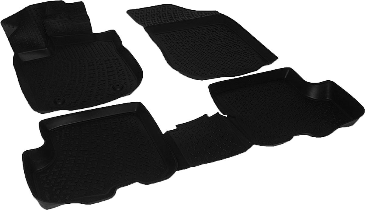 Коврики в салон автомобиля L.Locker, для Renault Sandero, цвет: черный, 3 шт0206070401Коврики L.Locker производятся индивидуально для каждой модели автомобиля из современного и экологически чистого материала, точно повторяют геометрию пола автомобиля, имеют высокий борт от 3 см до 4 см. Обладают повышенной износоустойчивостью, антискользящими свойствами, лишены резкого запаха, сохраняют свои потребительские свойства в широком диапазоне температур (от -50°С до +80°С). Коврики предназначены специально для автомобиля Renault Sandero.