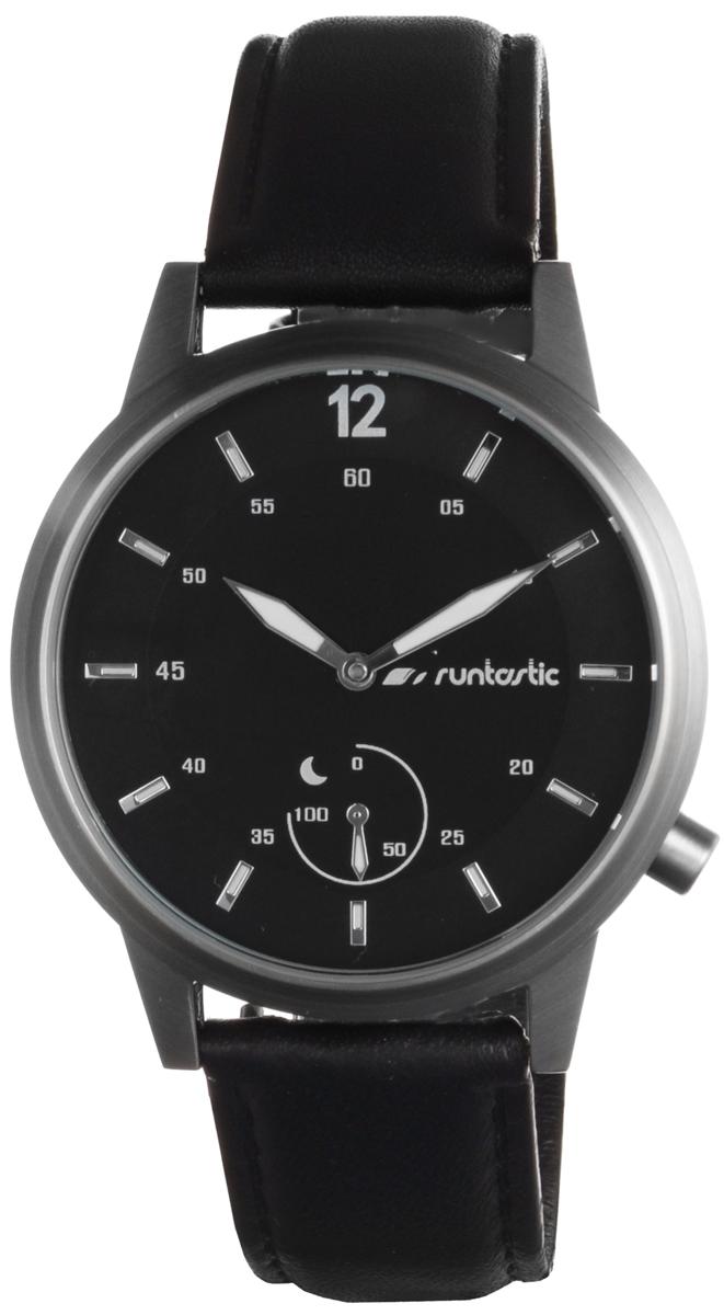 Часы наручные Runtastic  Moment Classic , спортивные, цвет: черный, стальной. RUNMOCL1 - Умные часы