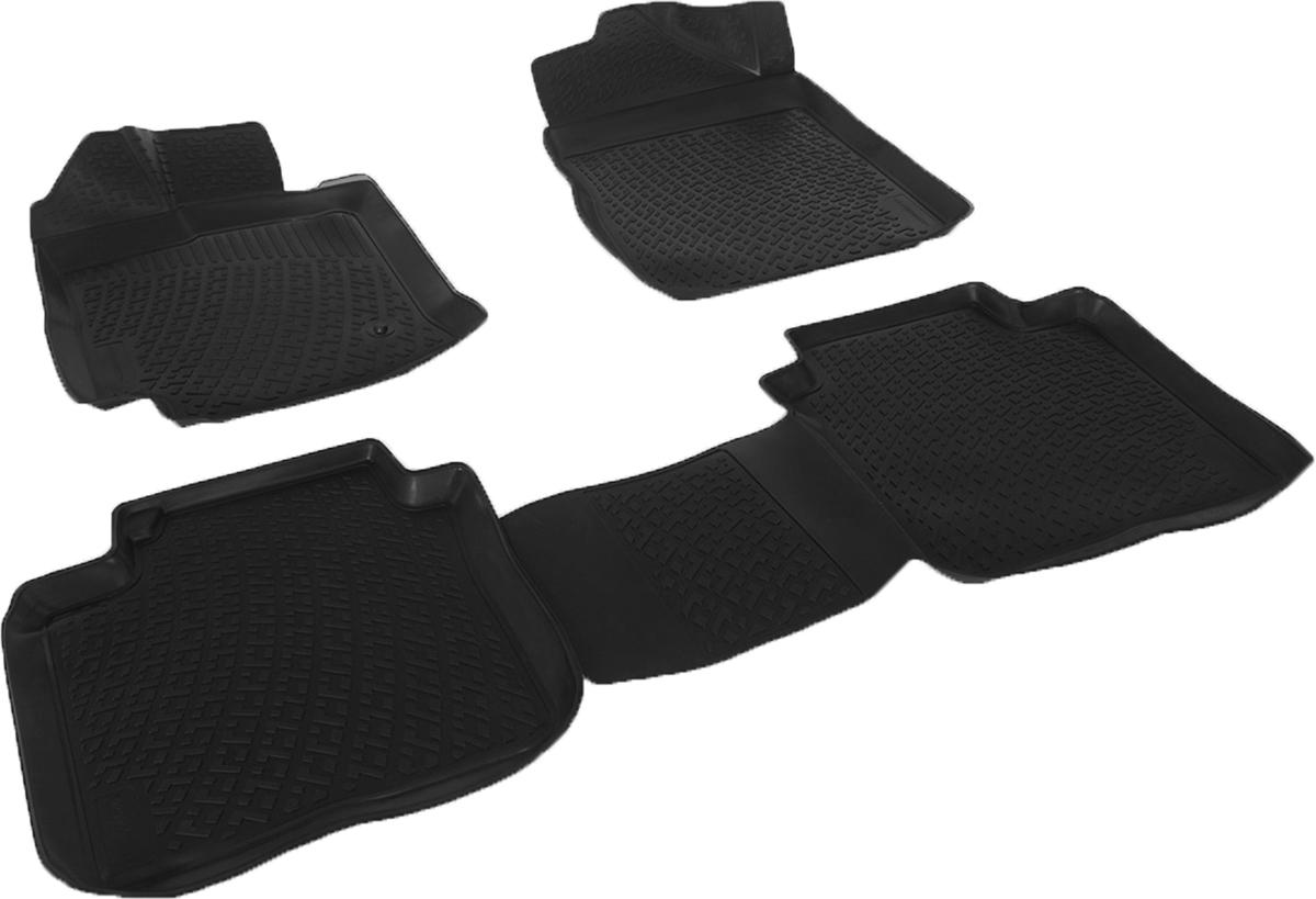 Коврики в салон автомобиля L.Locker, для Toyota Venza (08-), 4 шт0209090101Коврики L.Locker производятся индивидуально для каждой модели автомобиля из современного и экологически чистого материала. Изделия точно повторяют геометрию пола автомобиля, имеют высокий борт, обладают повышенной износоустойчивостью, антискользящими свойствами, лишены резкого запаха и сохраняют свои потребительские свойства в широком диапазоне температур (от -50°С до +80°С). Рисунок ковриков специально спроектирован для уменьшения скольжения ног водителя и имеет достаточную глубину, препятствующую свободному перемещению жидкости и грязи на поверхности. Одновременно с этим рисунок не создает дискомфорта при вождении автомобиля. Водительский ковер с предустановленными креплениями фиксируется на штатные места в полу салона автомобиля. Новая технология системы креплений герметична, не дает влаге и грязи проникать внутрь через крепеж на обшивку пола.