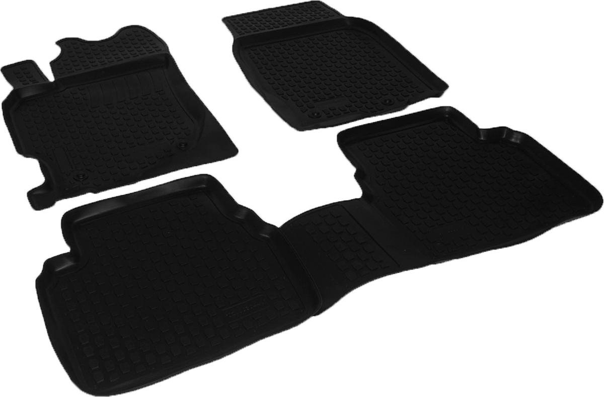 Коврики в салон автомобиля L.Locker, для Mazda 6 (07-), 4 шт0210030401Коврики L.Locker производятся индивидуально для каждой модели автомобиля из современного и экологически чистого материала. Изделия точно повторяют геометрию пола автомобиля, имеют высокий борт, обладают повышенной износоустойчивостью, антискользящими свойствами, лишены резкого запаха и сохраняют свои потребительские свойства в широком диапазоне температур (от -50°С до +80°С). Рисунок ковриков специально спроектирован для уменьшения скольжения ног водителя и имеет достаточную глубину, препятствующую свободному перемещению жидкости и грязи на поверхности. Одновременно с этим рисунок не создает дискомфорта при вождении автомобиля. Водительский ковер с предустановленными креплениями фиксируется на штатные места в полу салона автомобиля. Новая технология системы креплений герметична, не дает влаге и грязи проникать внутрь через крепеж на обшивку пола.