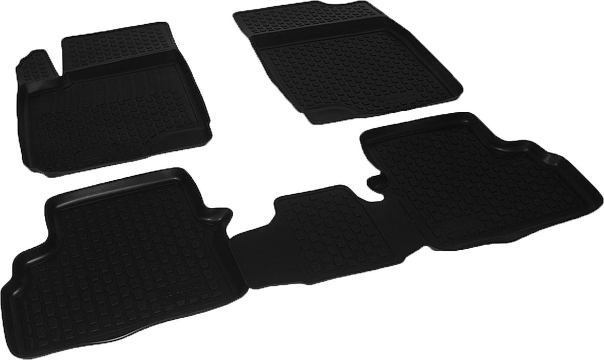 Коврики в салон автомобиля L.Locker, для Chery M11 (08-), 4 шт0214070101Коврики L.Locker производятся индивидуально для каждой модели автомобиля из современного и экологически чистого материала. Изделия точно повторяют геометрию пола автомобиля, имеют высокий борт, обладают повышенной износоустойчивостью, антискользящими свойствами, лишены резкого запаха и сохраняют свои потребительские свойства в широком диапазоне температур (от -50°С до +80°С). Рисунок ковриков специально спроектирован для уменьшения скольжения ног водителя и имеет достаточную глубину, препятствующую свободному перемещению жидкости и грязи на поверхности. Одновременно с этим рисунок не создает дискомфорта при вождении автомобиля. Водительский ковер с предустановленными креплениями фиксируется на штатные места в полу салона автомобиля. Новая технология системы креплений герметична, не дает влаге и грязи проникать внутрь через крепеж на обшивку пола.
