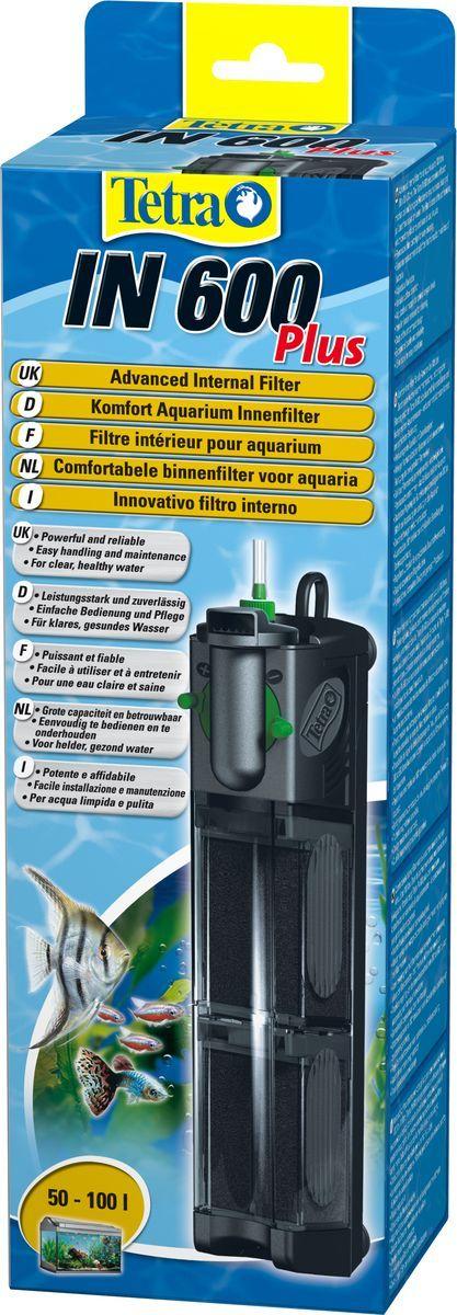 Фильтр внутренний Tetra IN 600 Plus, для аквариумов до 100 л607651Мощный и удобный внутренний фильтр для механической, биологической и химической очистки воды в аквариуме до 100 л. Внутренний рабочий фильтр оборудован 2-мя камерами для очистки воды, за счет этого потери полезных микроорганизмов сведены к минимуму. При очищении самого фильтра прибор не снимается. Для каждого объема аквариума оборот воды настраивается пользователем. Очищенная вода выходит обратно в аквариум через сопла, вращающиеся вокруг оси на 180 градусов. Есть функция дополнительного забора воздуха посредством универсальной системы Venturi. Дизайн фильтра очень лаконичный и компактный, что позволяет размещать прибор в любом месте аквариума. Присоски, размещенные на корпусе фильтра, надежно закрепляют его на поверхности. Качество оборудования подтверждено сертификатами.