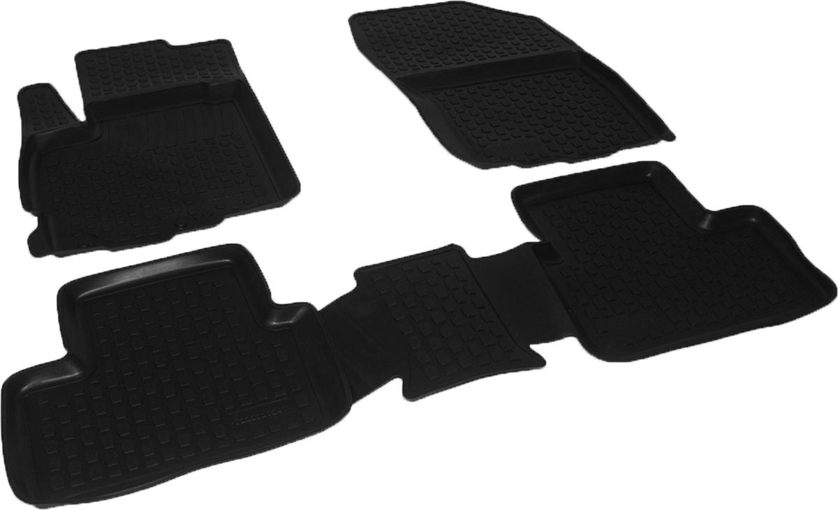 Коврики в салон автомобиля L.Locker, для Citroen C4 Aircross (12-), 3 шт0222020201Коврики L.Locker производятся индивидуально для каждой модели автомобиля из современного и экологически чистого материала. Изделия точно повторяют геометрию пола автомобиля, имеют высокий борт, обладают повышенной износоустойчивостью, антискользящими свойствами, лишены резкого запаха и сохраняют свои потребительские свойства в широком диапазоне температур (от -50°С до +80°С). Рисунок ковриков специально спроектирован для уменьшения скольжения ног водителя и имеет достаточную глубину, препятствующую свободному перемещению жидкости и грязи на поверхности. Одновременно с этим рисунок не создает дискомфорта при вождении автомобиля. Водительский ковер с предустановленными креплениями фиксируется на штатные места в полу салона автомобиля. Новая технология системы креплений герметична, не дает влаге и грязи проникать внутрь через крепеж на обшивку пола.