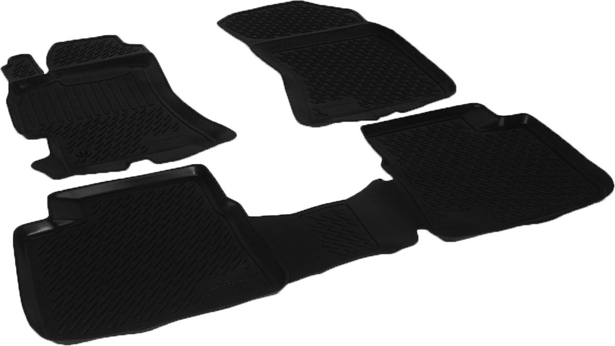 Набор автомобильных ковриков L.Locker для Subaru Outback III (03-), в салон, 4 шт0240030101Коврики L.Locker производятся индивидуально для каждой модели автомобиля из современного и экологически чистого материала, точно повторяют геометрию пола автомобиля, имеют высокий борт от 3 см до 4 см, обладают повышенной износоустойчивостью, антискользящими свойствами, лишены резкого запаха, сохраняют свои потребительские свойства в широком диапазоне температур (от -50°С до +80°С).
