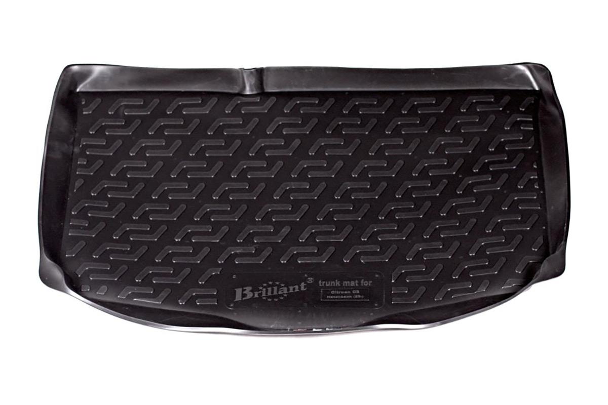 Коврик в багажник Citroen C3 hb (02-) полиуретан0122030101Коврики производятся индивидуально для каждой модели автомобиля из современного и экологически чистого материала, точно повторяют геометрию пола автомобиля, имеют высокий борт от 4 см до 6 см., обладают повышенной износоустойчивостью, антискользящими свойствами, лишены резкого запаха, сохраняют свои потребительские свойства в широком диапазоне температур (-50 +80 С).