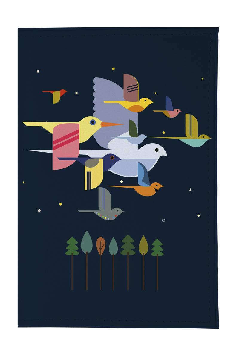 Mitya Veselkov Обложка для паспорта Птицы на синем. OZAM242OZAM242