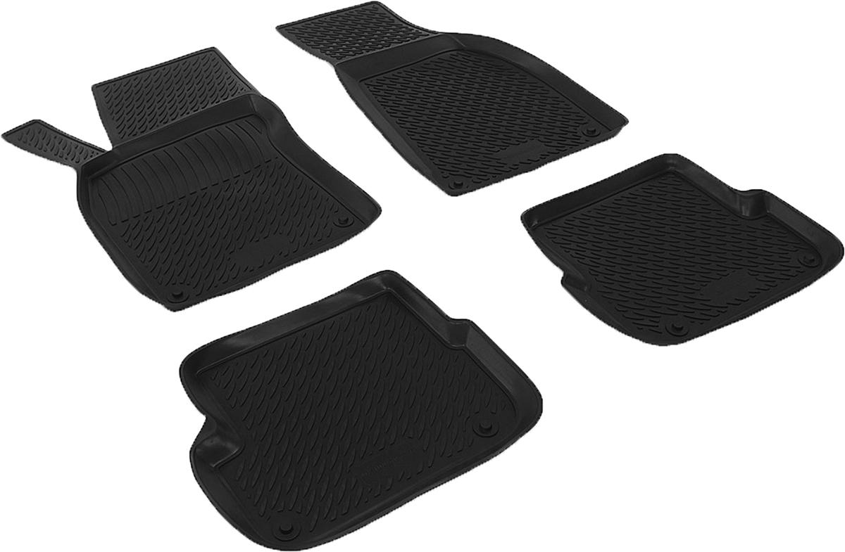 Коврики в салон автомобиля L.Locker, для Audi A6 (08-), 4 шт0200040301Коврики L.Locker производятся индивидуально для каждой модели автомобиля из современного и экологически чистого материала. Изделия точно повторяют геометрию пола автомобиля, имеют высокий борт, обладают повышенной износоустойчивостью, антискользящими свойствами, лишены резкого запаха и сохраняют свои потребительские свойства в широком диапазоне температур (от -50°С до +80°С). Рисунок ковриков специально спроектирован для уменьшения скольжения ног водителя и имеет достаточную глубину, препятствующую свободному перемещению жидкости и грязи на поверхности. Одновременно с этим рисунок не создает дискомфорта при вождении автомобиля. Водительский ковер с предустановленными креплениями фиксируется на штатные места в полу салона автомобиля. Новая технология системы креплений герметична, не дает влаге и грязи проникать внутрь через крепеж на обшивку пола.