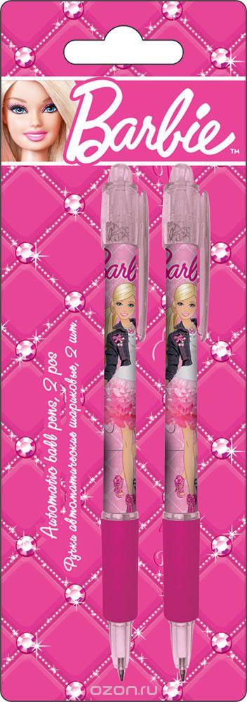 Ручки автоматические шариковые, цвет пасты синий, 2 шт. Печать на корпусе - термоперенос. Упаковка - блистер, 500 г/м2, 4+1, европодвес BarbieBRAB-US1-116-BL2Ручки автоматические шариковые, цвет пасты синий, 2 шт. Печать на корпусе - термоперенос. Упаковка - блистер, 500 г/м2, 4+1, европодвес Barbie Цвет: розовый.Материал: Пластик, .Поверхность: Бумага.Упаковка: Блистер.