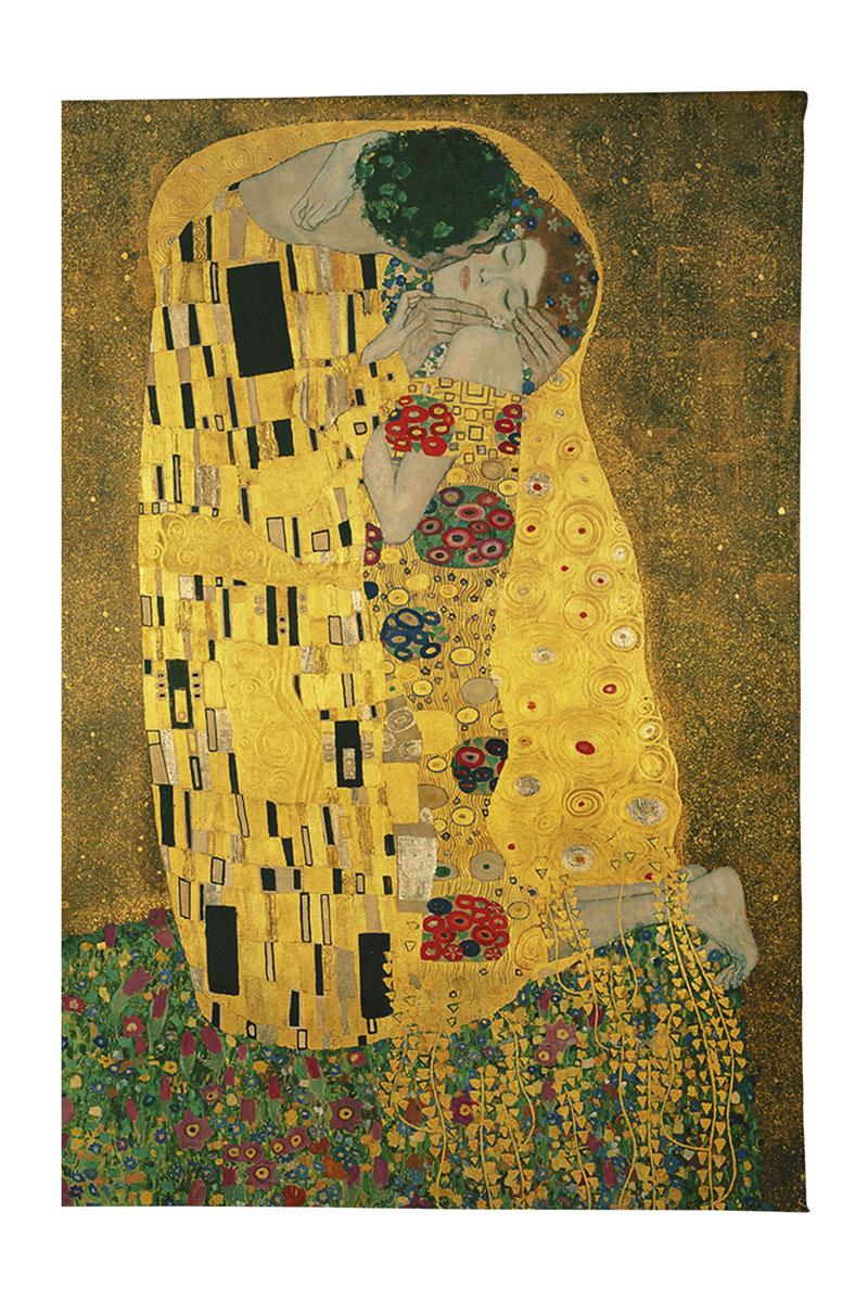 Обложка для паспорта Mitya Veselkov Поцелуй Климта, цвет: зелено-желтый. OZAM260 часы поцелуй климта mitya veselkov часы поцелуй климта