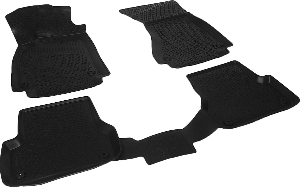 Коврики в салон автомобиля L.Locker, для Audi A6 IV (11-14)0200040401Коврики L.Locker производятся индивидуально для каждой модели автомобиля из современного и экологически чистого материала. Изделия точно повторяют геометрию пола автомобиля, имеют высокий борт, обладают повышенной износоустойчивостью, антискользящими свойствами, лишены резкого запаха и сохраняют свои потребительские свойства в широком диапазоне температур (от -50°С до +80°С). Рисунок ковриков специально спроектирован для уменьшения скольжения ног водителя и имеет достаточную глубину, препятствующую свободному перемещению жидкости и грязи на поверхности. Одновременно с этим рисунок не создает дискомфорта при вождении автомобиля. Водительский ковер с предустановленными креплениями фиксируется на штатные места в полу салона автомобиля. Новая технология системы креплений герметична, не дает влаге и грязи проникать внутрь через крепеж на обшивку пола.
