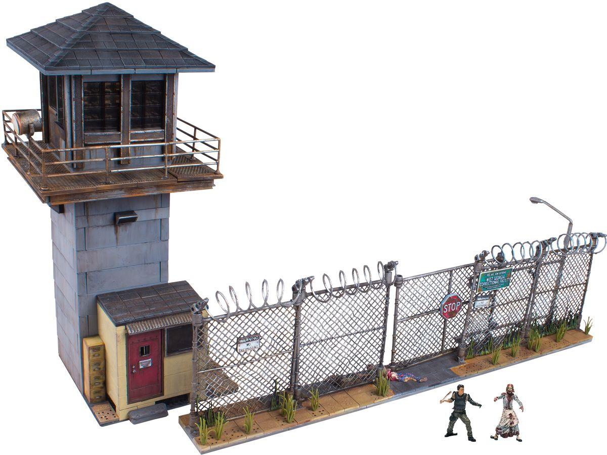 Ходячие мертвецы. Конструктор-диорама Тюремная башня и ворота