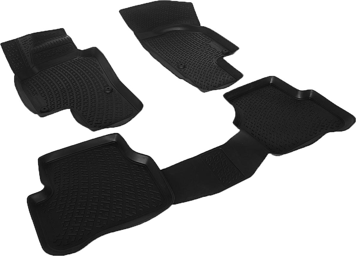 Коврики в салон автомобиля L.Locker, для Volkswagen Passat CC (08-), 4 шт0201010501Коврики L.Locker производятся индивидуально для каждой модели автомобиля из современного и экологически чистого материала. Изделия точно повторяют геометрию пола автомобиля, имеют высокий борт, обладают повышенной износоустойчивостью, антискользящими свойствами, лишены резкого запаха и сохраняют свои потребительские свойства в широком диапазоне температур (от -50°С до +80°С). Рисунок ковриков специально спроектирован для уменьшения скольжения ног водителя и имеет достаточную глубину, препятствующую свободному перемещению жидкости и грязи на поверхности. Одновременно с этим рисунок не создает дискомфорта при вождении автомобиля. Водительский ковер с предустановленными креплениями фиксируется на штатные места в полу салона автомобиля. Новая технология системы креплений герметична, не дает влаге и грязи проникать внутрь через крепеж на обшивку пола.
