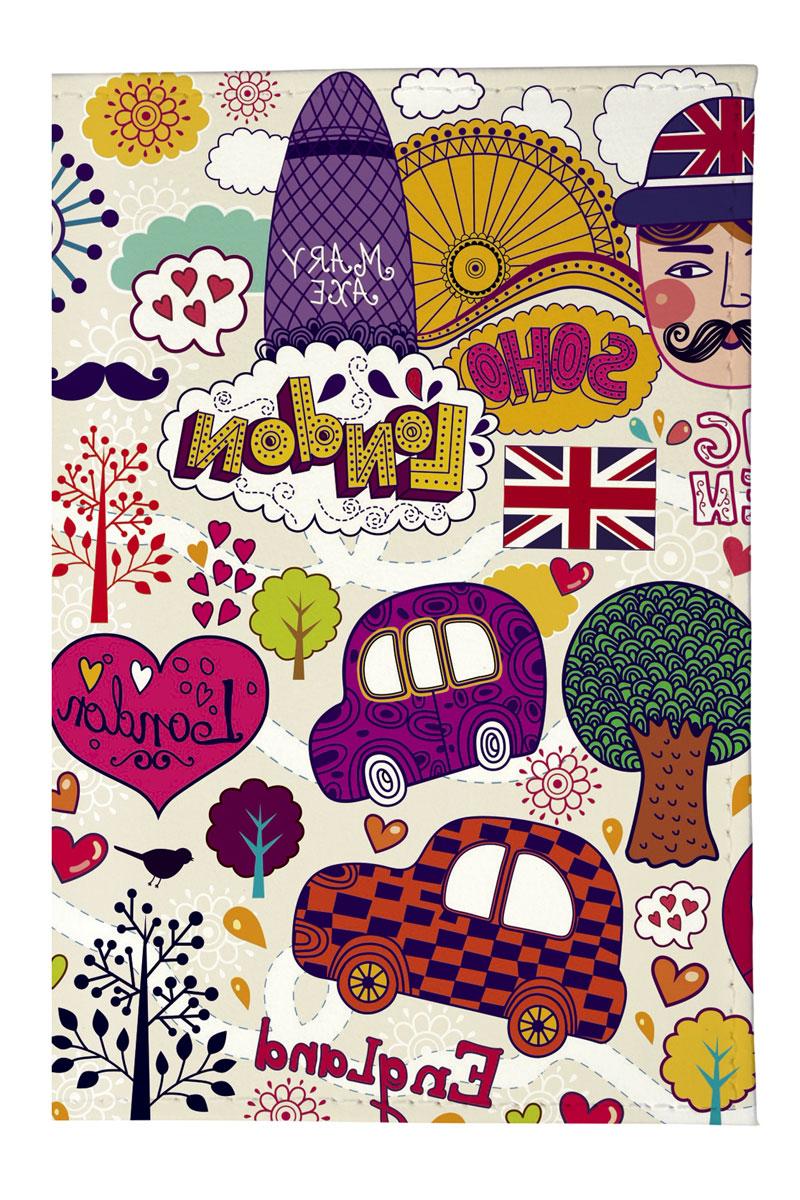 Mitya Veselkov Обложка для паспорта Праздничный Лондон. OZAM209