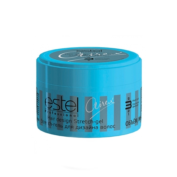 Estel Airex Stretch-гель для дизайна волос пластичная фиксация 65 млAS65Estel Airex Stretch - гель для дизайна волос пластичная фиксация обеспечивает пластичную фиксацию, придает блеск. Паутинообразные волокна идеальны для создания гибкой и подвижной укладки, позволяют расставлять акценты.Для неограниченных экспериментов в стайлинге!