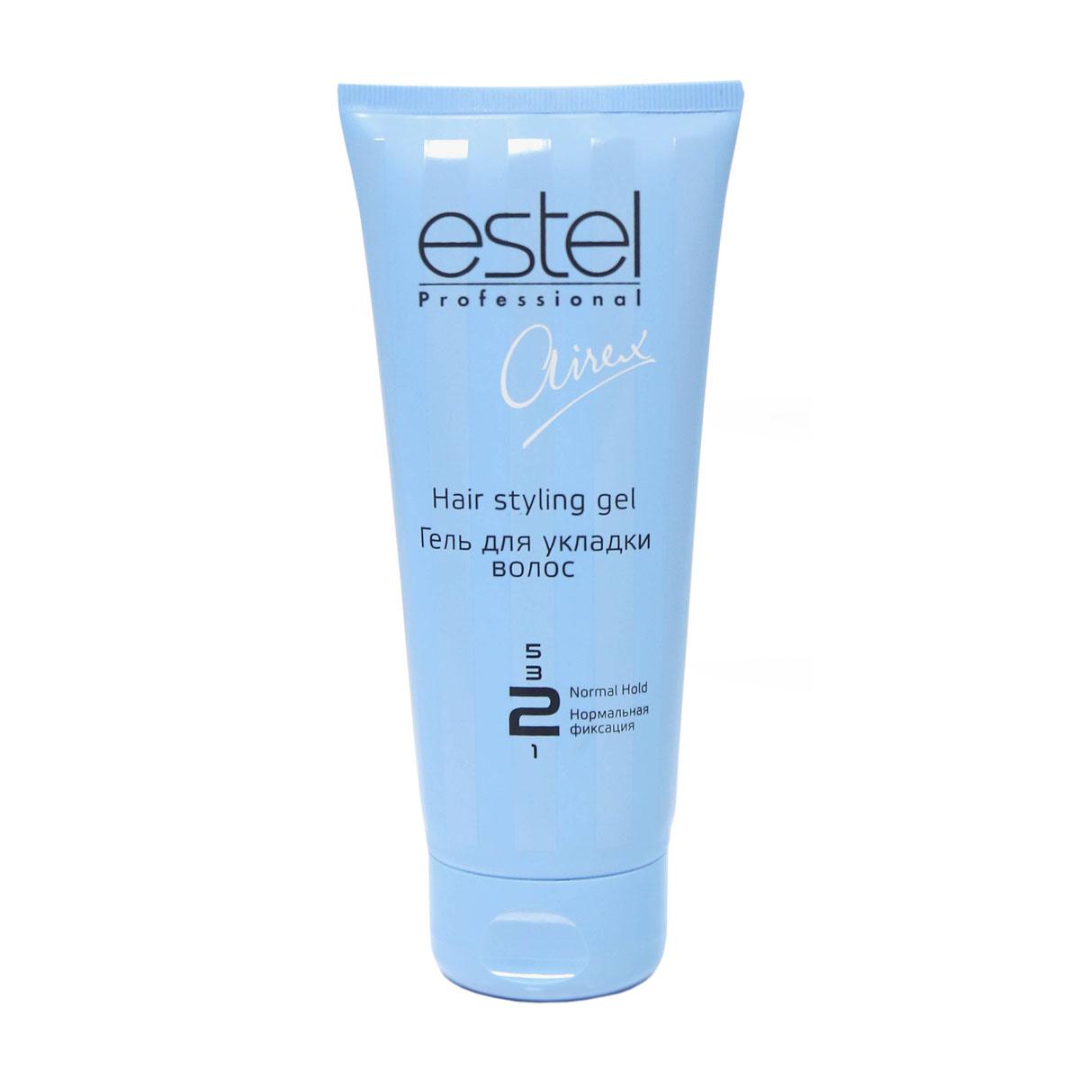 Estel Airex Гель для укладки волос нормальной фиксации 200 млAG200/1Гель для укладки волос нормальной фиксации Estel Airex содержит активные увлажняющие компоненты, провитамин В5 и комплекс силоксанов, придающий блеск. В результате длительная фиксация, и эффект мокрых волос.