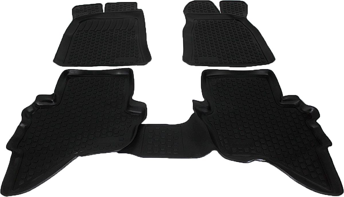 Коврики в салон автомобиля L.Locker, для Ford Ranger (06-), 3 шт0202120101Коврики L.Locker производятся индивидуально для каждой модели автомобиля из современного и экологически чистого материала. Изделия точно повторяют геометрию пола автомобиля, имеют высокий борт, обладают повышенной износоустойчивостью, антискользящими свойствами, лишены резкого запаха и сохраняют свои потребительские свойства в широком диапазоне температур (от -50°С до +80°С). Рисунок ковриков специально спроектирован для уменьшения скольжения ног водителя и имеет достаточную глубину, препятствующую свободному перемещению жидкости и грязи на поверхности. Одновременно с этим рисунок не создает дискомфорта при вождении автомобиля. Водительский ковер с предустановленными креплениями фиксируется на штатные места в полу салона автомобиля. Новая технология системы креплений герметична, не дает влаге и грязи проникать внутрь через крепеж на обшивку пола.