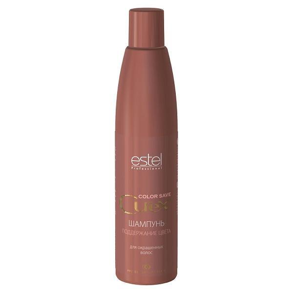 Estel Curex Color Save Шампунь для окрашенных волос 300 млCU300/S3Шампунь для окрашенных волос Estel Curex Color Save содержит кератиновый комплекс для восстановления окрашенных, поврежденных волос и волос после химической завивки. Результат: Закрепление цвета Восстановление структуры Мягкое очищение