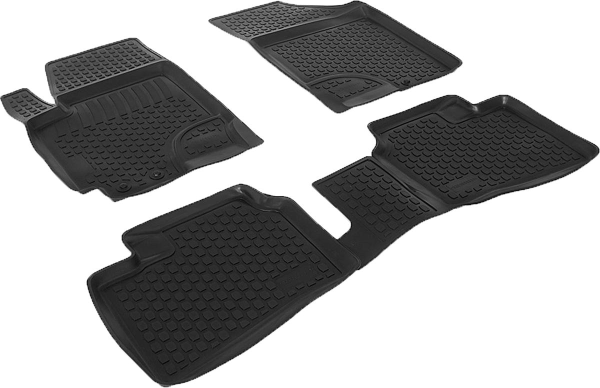 Коврики в салон автомобиля L.Locker, для Kia Cerato (09-), 4 шт0203050301Коврики L.Locker производятся индивидуально для каждой модели автомобиля из современного и экологически чистого материала. Изделия точно повторяют геометрию пола автомобиля, имеют высокий борт, обладают повышенной износоустойчивостью, антискользящими свойствами, лишены резкого запаха и сохраняют свои потребительские свойства в широком диапазоне температур (от -50°С до +80°С). Рисунок ковриков специально спроектирован для уменьшения скольжения ног водителя и имеет достаточную глубину, препятствующую свободному перемещению жидкости и грязи на поверхности. Одновременно с этим рисунок не создает дискомфорта при вождении автомобиля. Водительский ковер с предустановленными креплениями фиксируется на штатные места в полу салона автомобиля. Новая технология системы креплений герметична, не дает влаге и грязи проникать внутрь через крепеж на обшивку пола.