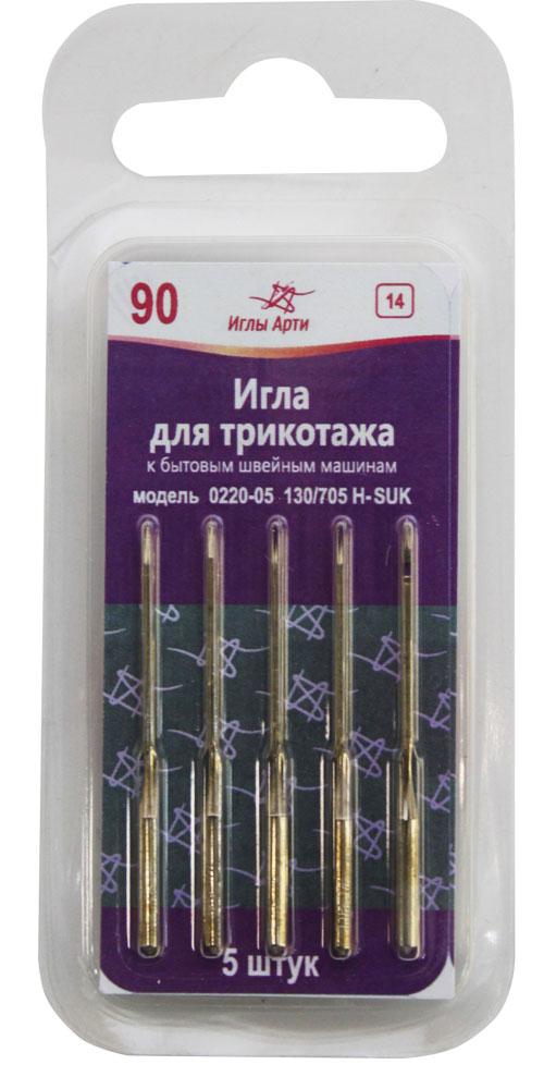 Иглы для швейных машин Иглы Арти, для трикотажа, №90, 5 шт вытяжка каминная shindo 60 b bg 4etc черный