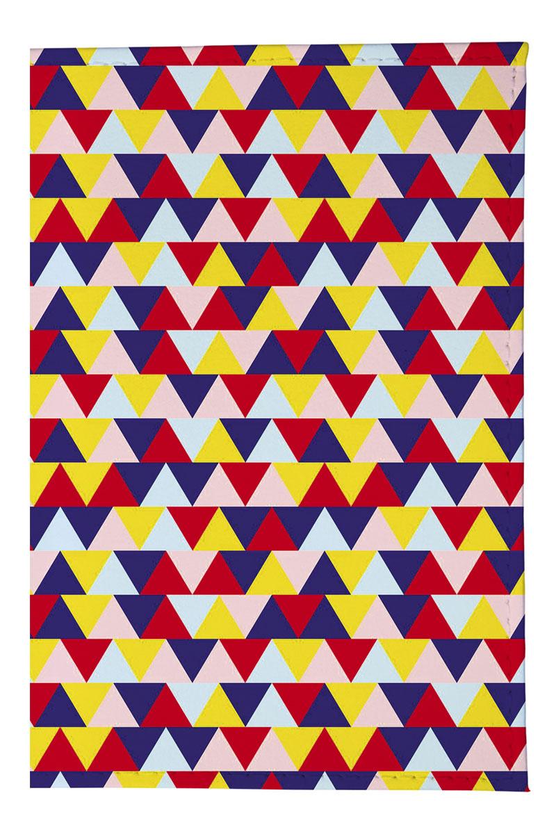 Mitya Veselkov Обложка для автодокументов Цветные треугольники. AUTOZAM380AUTOZAM380