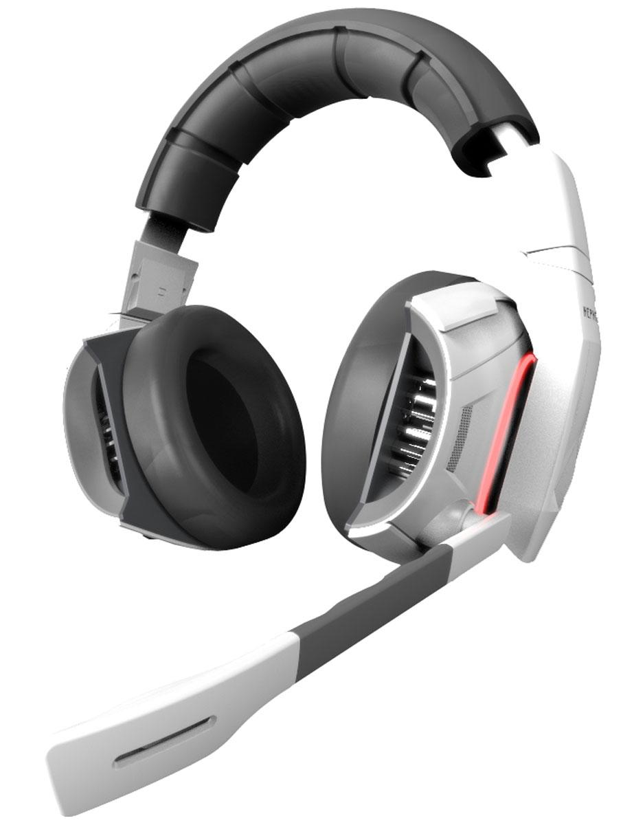 Gamdias Hephaestus игровые наушникиGM-GHS2000Игровая стереогарнитура Gamdias Hephaestus V2 - абсолютное оружие геймера. Гарнитура открывает силу слышать все, что происходит вокруг и безошибочно определять источник угрозы. Виртуальное позиционирование звуков и вибрации 7.1 обеспечивают игрока знанием, которое недоступно другим.Виртуальный звук 7.1:Виртуальный объемный звук и динамики с неодимовыми магнитами обеспечивают непревзойденное качество звука с четким звуковым позиционированием.Вибрация с виртуальным позиционированием:Эксклюзивная технология вибрации Gamdias, благодаря которой игрок может чувствовать каждый взрыв и определять его местоположение. Вибрацией сопровождаются все самые важные моменты игры.Регулируемый микрофон с шумоподавлением:Микрофон может быть зафиксирован в любой удобной позиции. Оснащен технологией шумоподавления, препятствующей попаданию посторонних звуков в голосовой канал.Настраиваемая симуляция окружения:Позволит настроить виртуальное акустическое окружение, наиболее комфортное для игрока.Система охлаждения:Встроенный алюминиевый радиатор для поддержания оптимальной температуры.Продуманная эргономика:Облегченная конструкция, кожаные амбушюры и оголовье снизят утомляемость в ходе часов, проведенных в игре.Материал корпуса: пластикМатериал амбушюр: кожаЧувствительность микрофона: 46 дБ