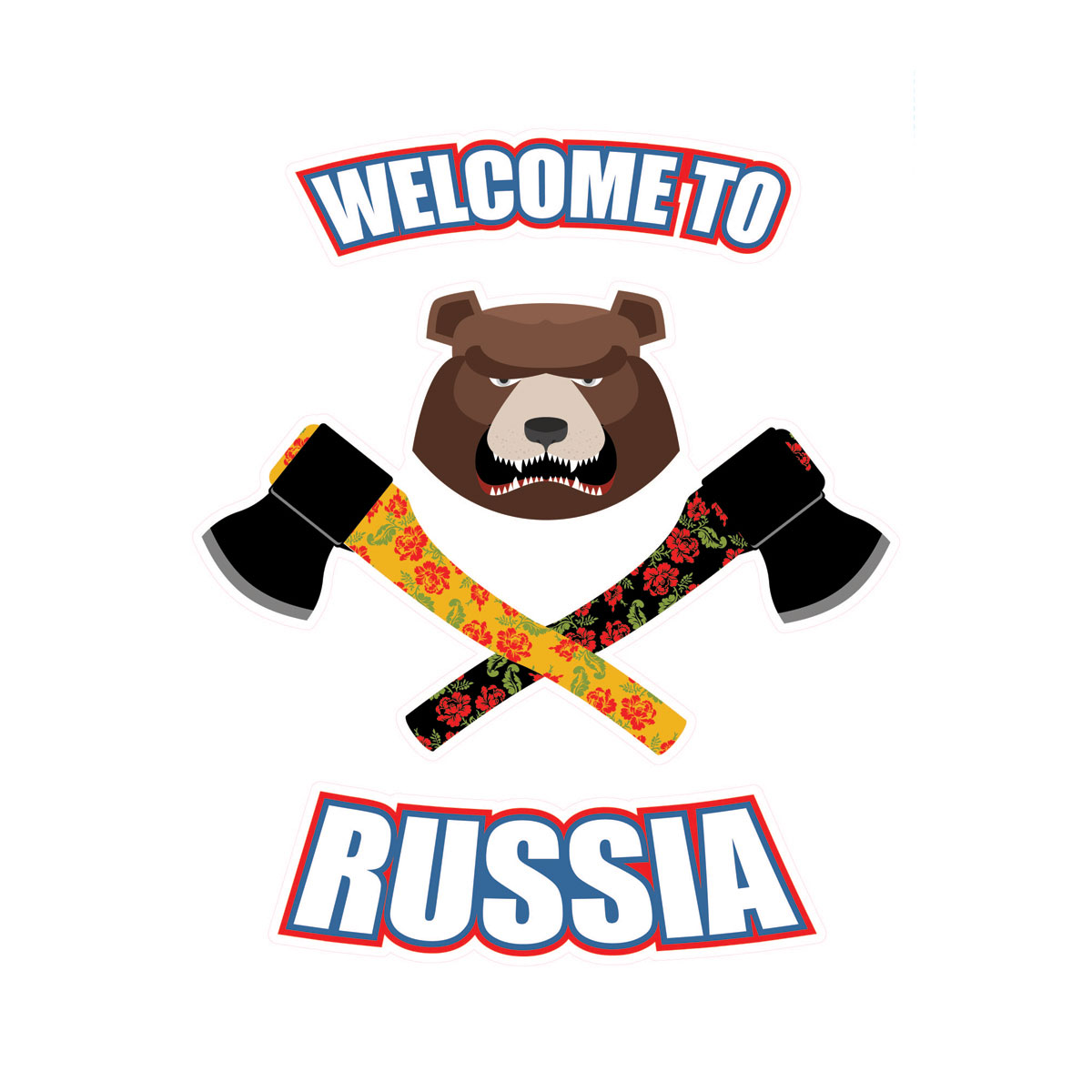Украшение для стен и предметов интерьера Decoretto Welcome To Russia